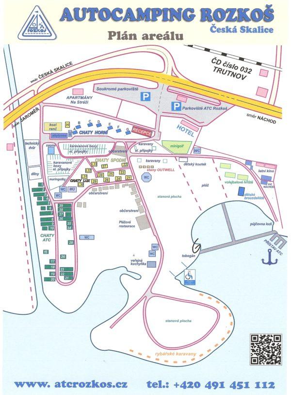 mapa areálu autokempu Rozkoš
