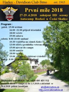 První míle 2018 HD-C Brno