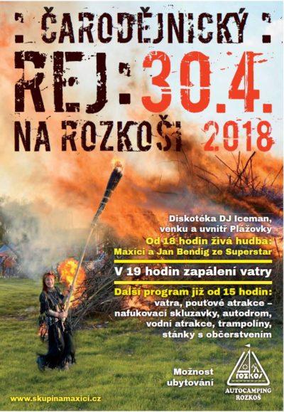Čarodějnický rej ROZKOŠ 2018