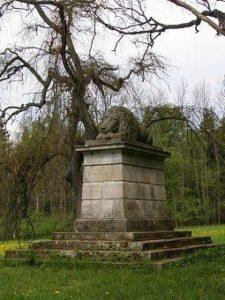 Spící lev - památník